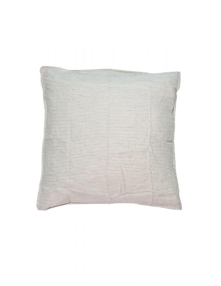 Kuddfodral Linne Pinstripe White/Grey