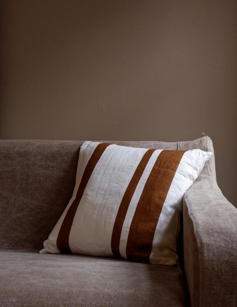 Cushion Linen Striped Kummin