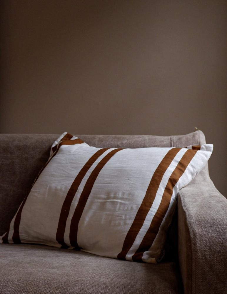 Cushion Linen Striped Kummin