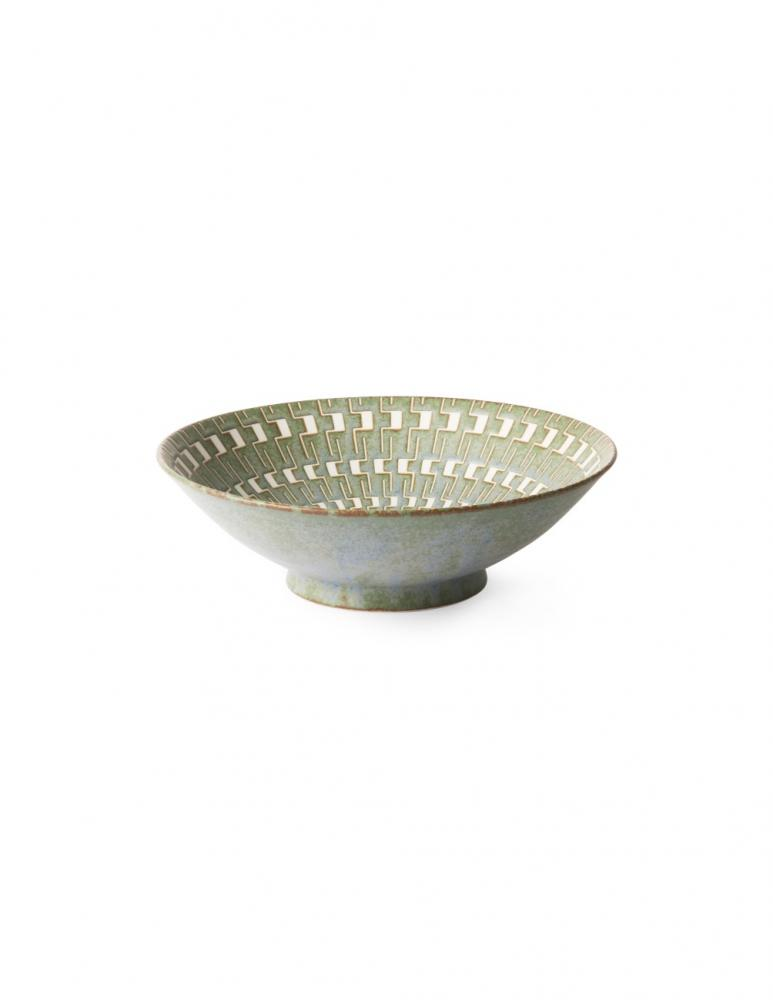 Kyoto Green/White Salad Bowl