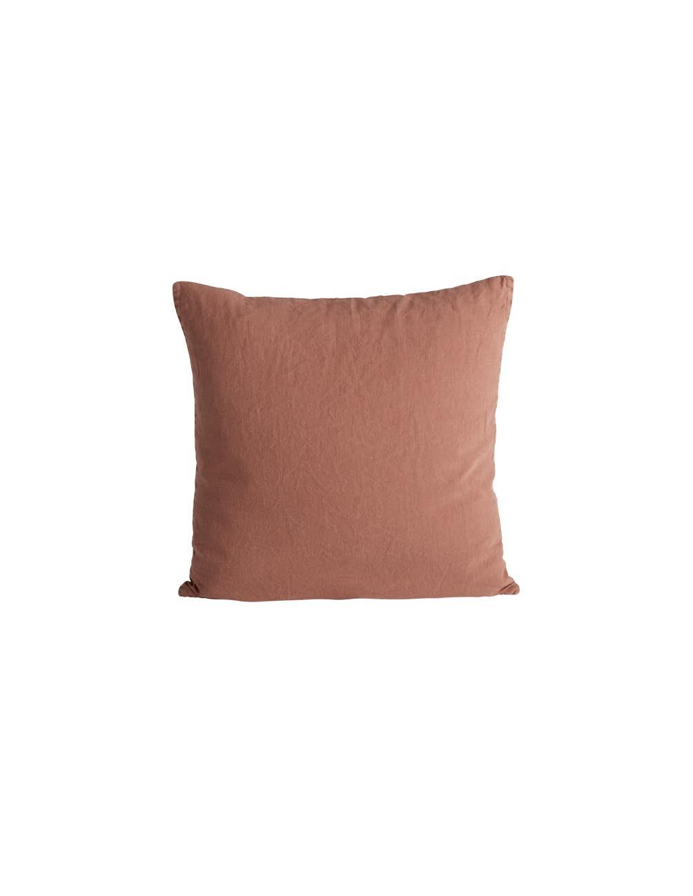 Rust Linen Cushion cover 50x50cm