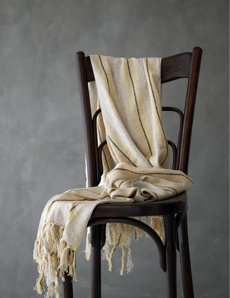 Linen Hamam Unbleached and soft yellow