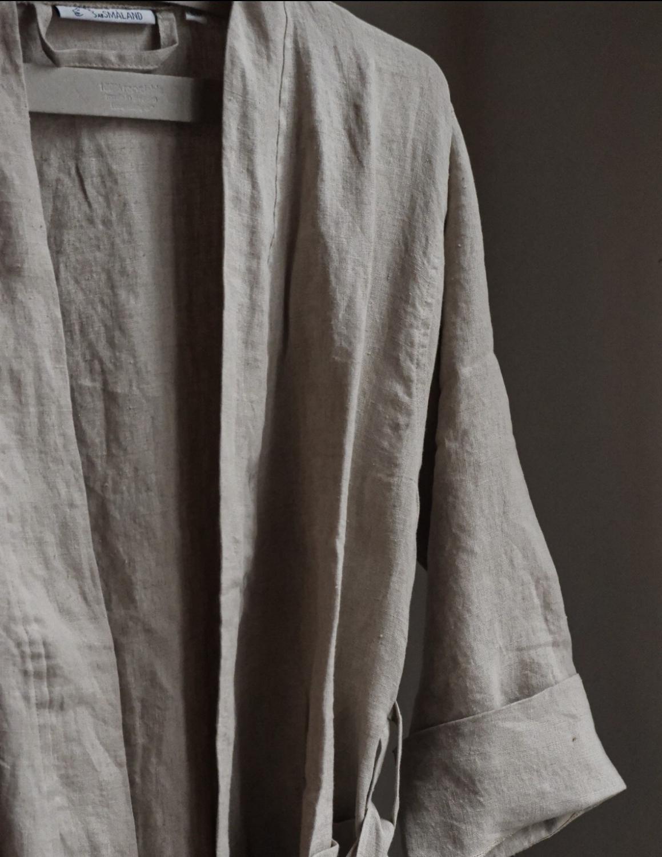 Linen Bathrobe Natural