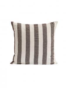Choco Striped Linen Cushion Cover 50x50cm