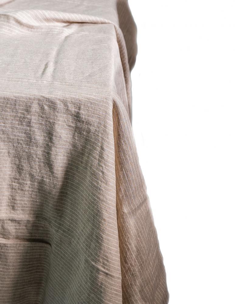Duk Pinstripe Natural/White