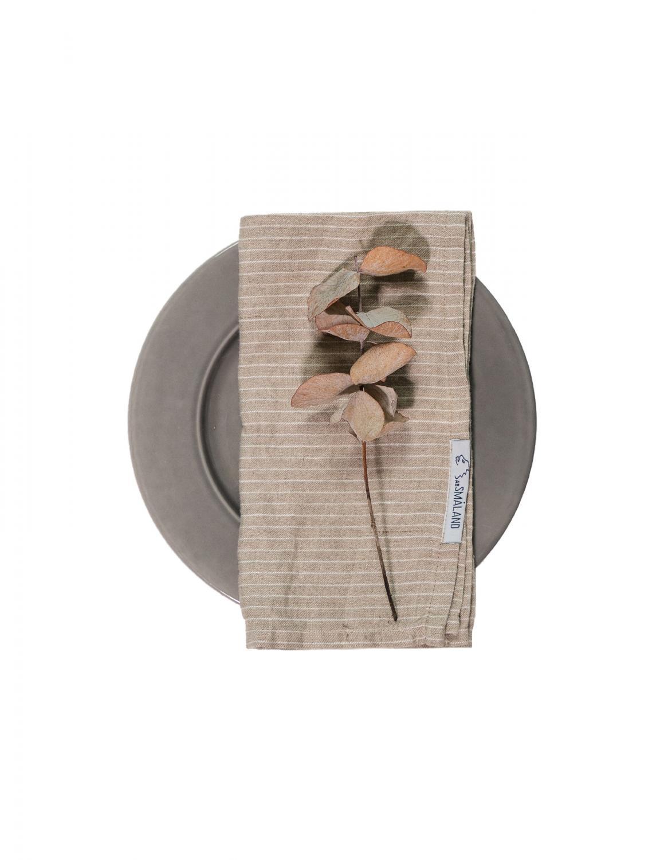 Linen Napkin Pinstripe Natural/White