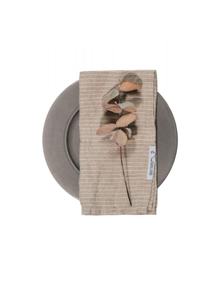Linneservetter Pinstripe Natural/White