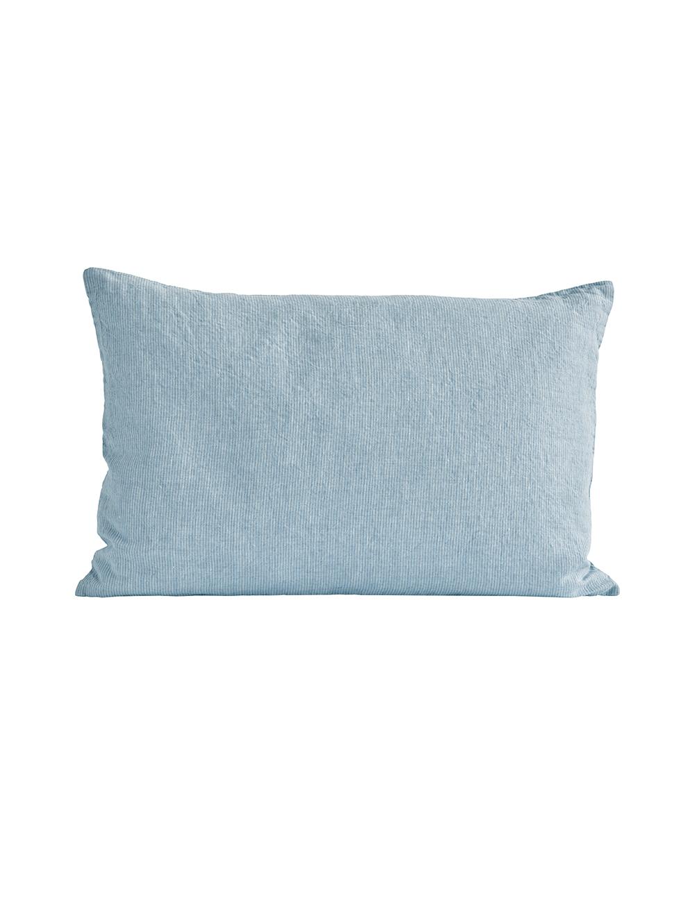 Sky Pinstriped Linen Cushion Cover 40x60cm