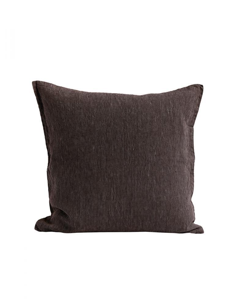 Choco Pinnstriped Linen Cushion Cover 50x50cm