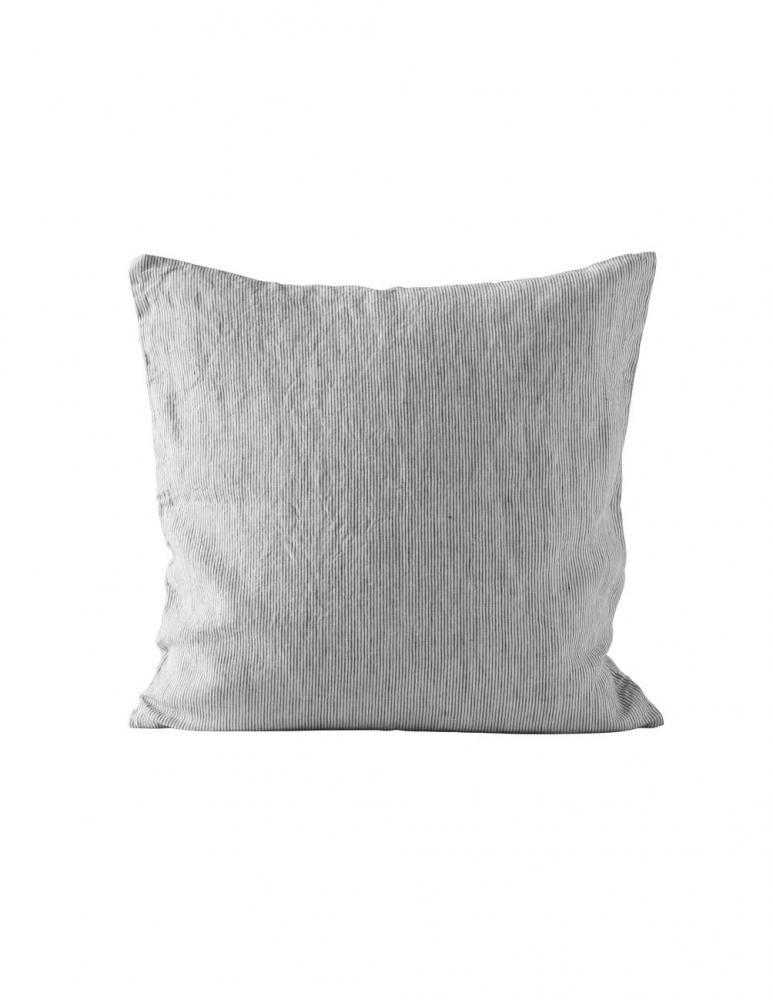 Ecru/Navy Pin Stripe Cushion cover 50x50cm