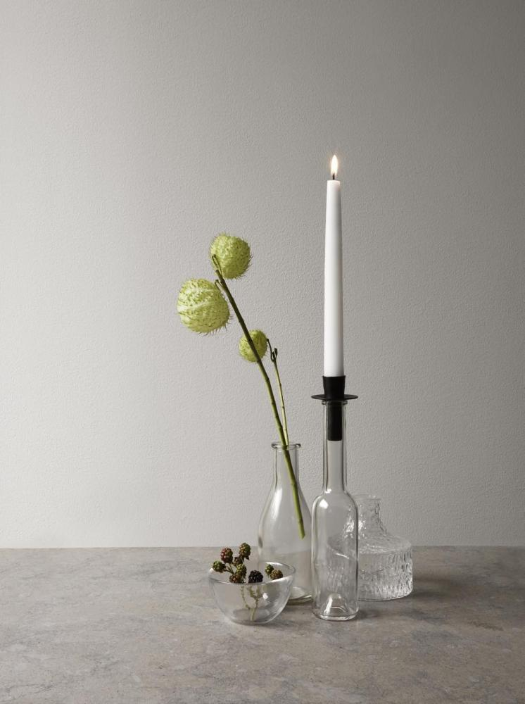 Candle Holder Bottle Black