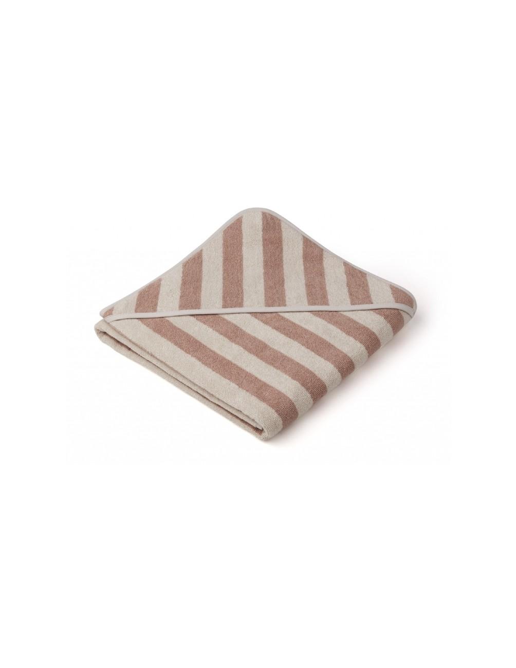 Louie Hooded Junior Towel Rose/Sand