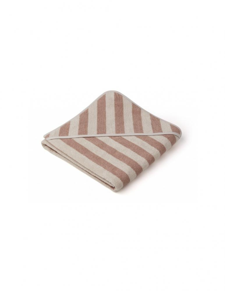 Louie Hooded Junior Towel Rose/Sand