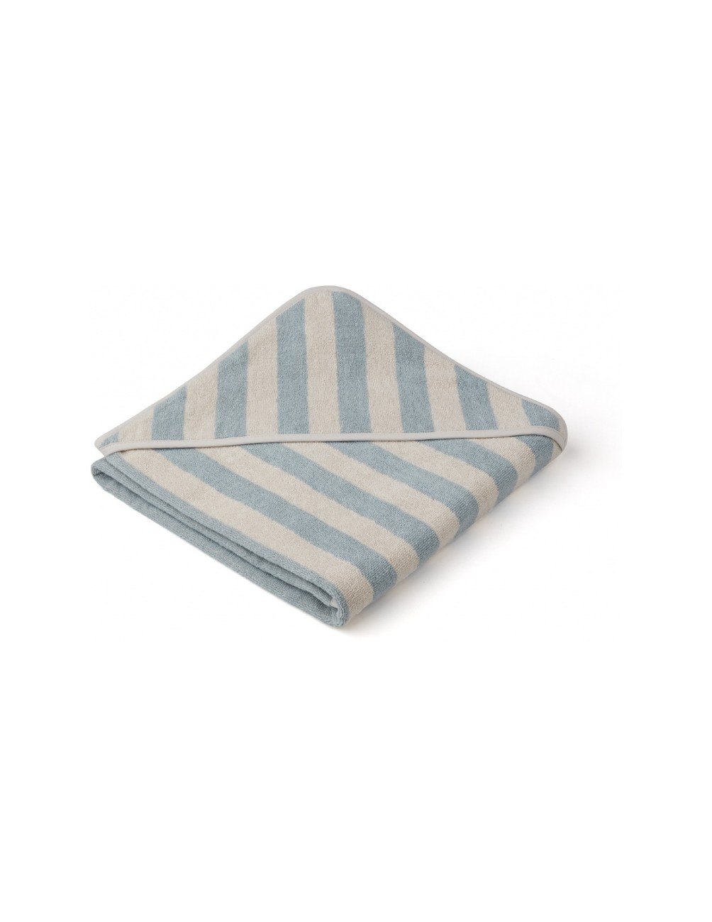 Louie Hooded Junior Towel Sea Blue/Sand