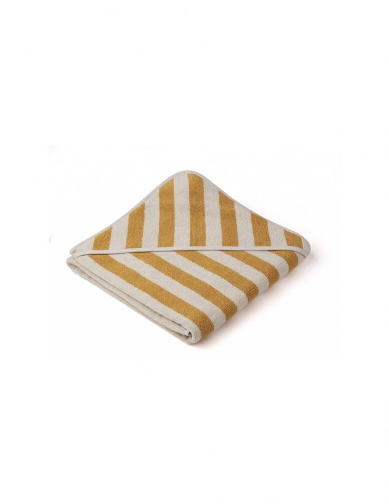 Louie Hooded Junior Towel Yellow Mellow/Sand