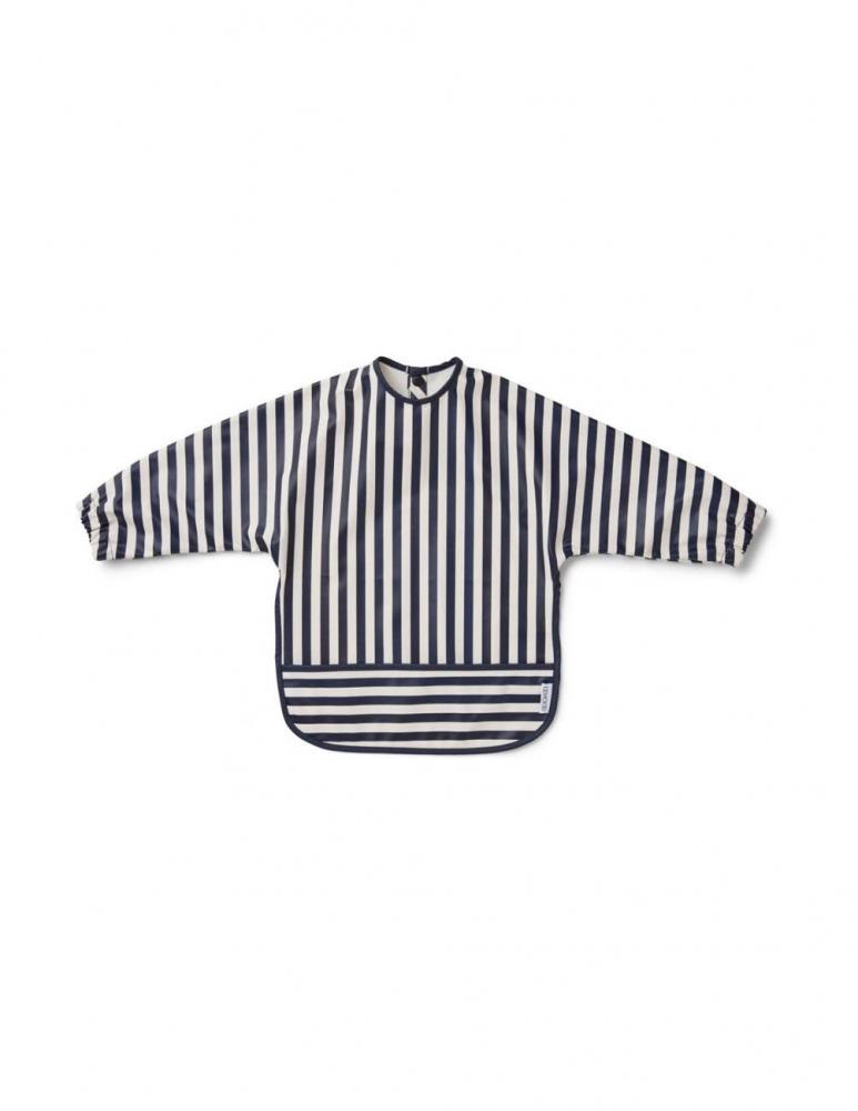 Merle Cape Bib Stripe Navy