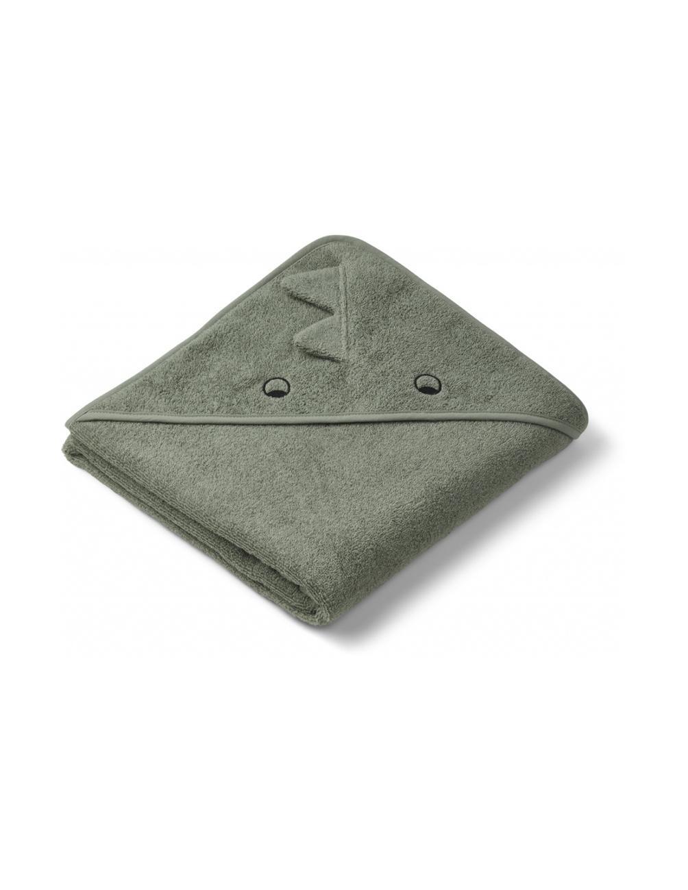 Augusta Hooded Towel Dino Faune Green