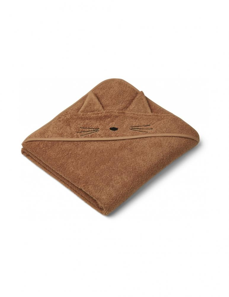 Augusta Hooded Towel Cat Terracotta