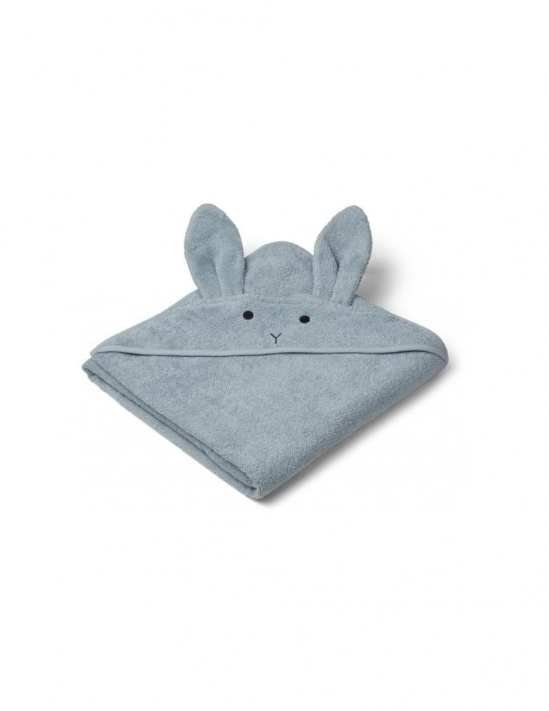Augusta Hooded Towel Rabbit Sea Blue
