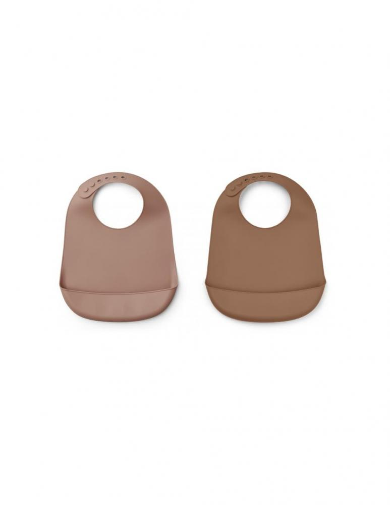 Tilda Silicone Bib Blue Dark Rose/Terracotta - 2 pack