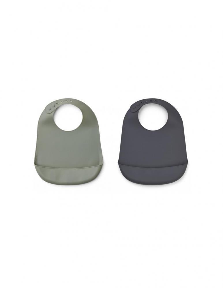 Tilda Silikon Haklapp Faune Green/Stone - 2 pack