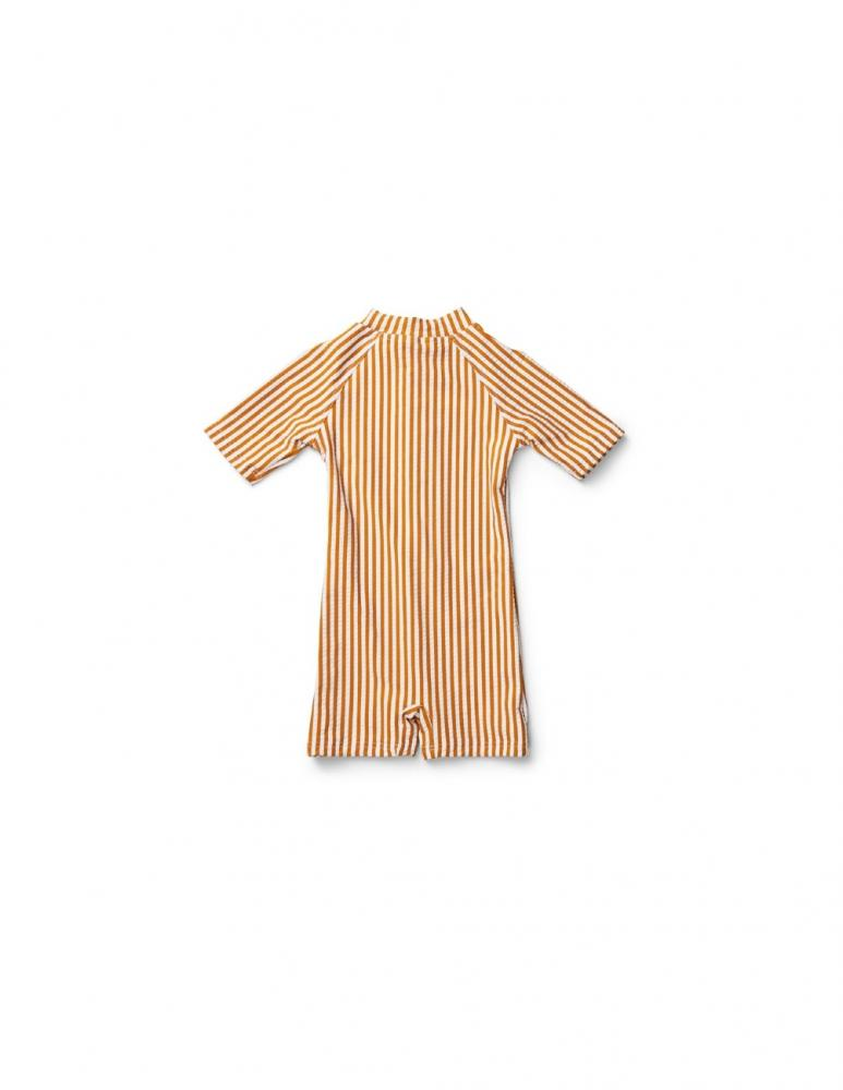 Max Swim Jumpsuit Mustard/White