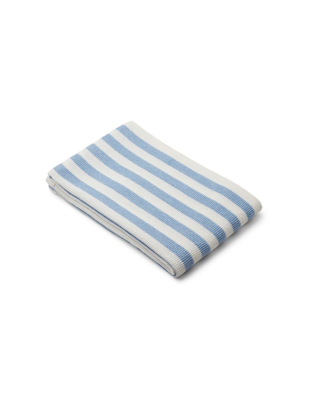 Macy Beach Towel Sky Blue/Creme de la Creme