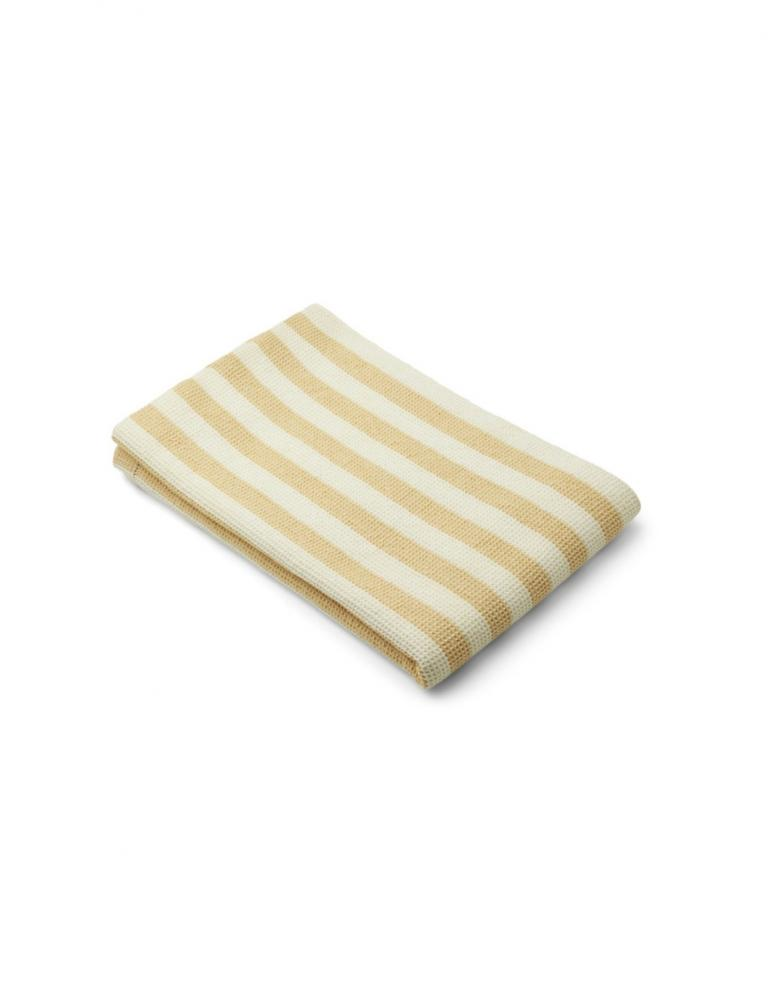 Macy strandhandduk Randig Gul / Cream