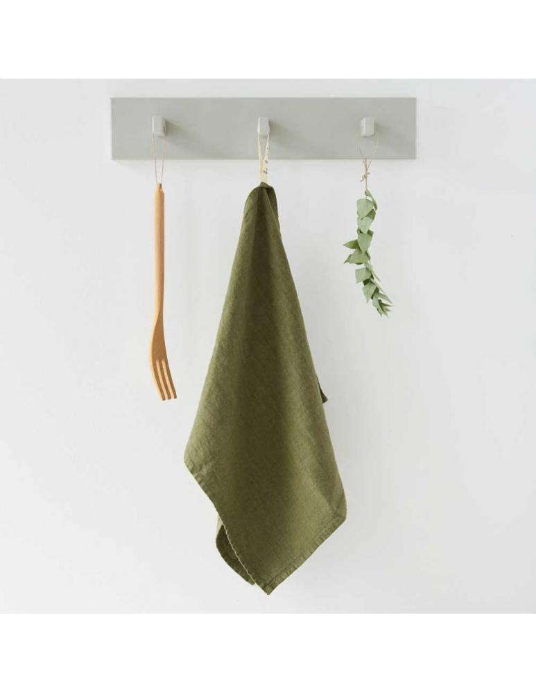 Handmade kitchen towel  martini olive linen Linen Tales