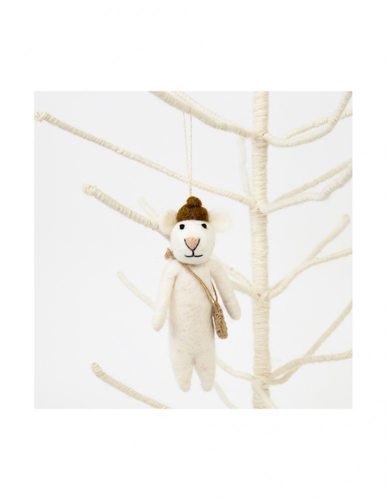 Mus med basker Julhänge