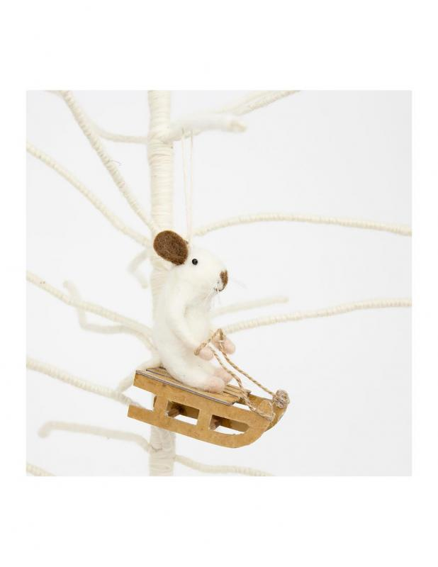 Mouse Sledge Christmas Ornament