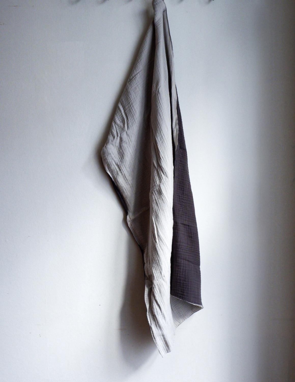 Muslin Towels Light Grey/Dark Grey