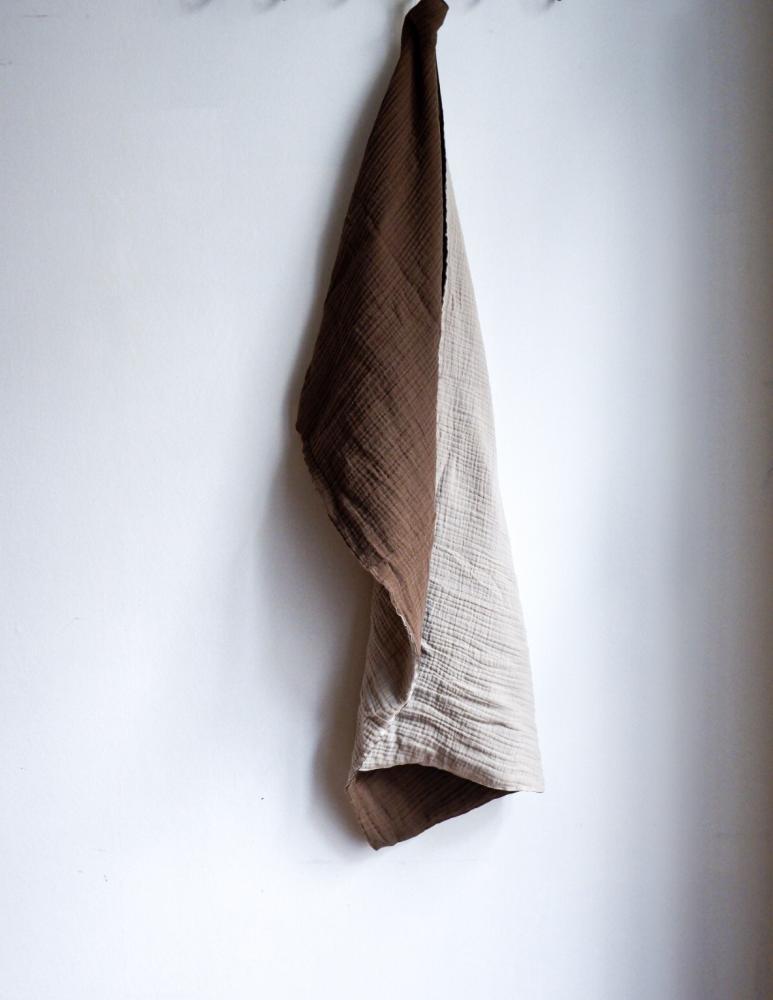 Muslin Handduk Nougat/Sand
