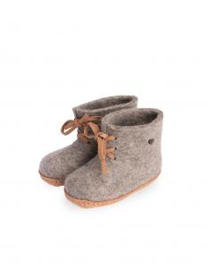 Tova Eco Baby Slippers Grey