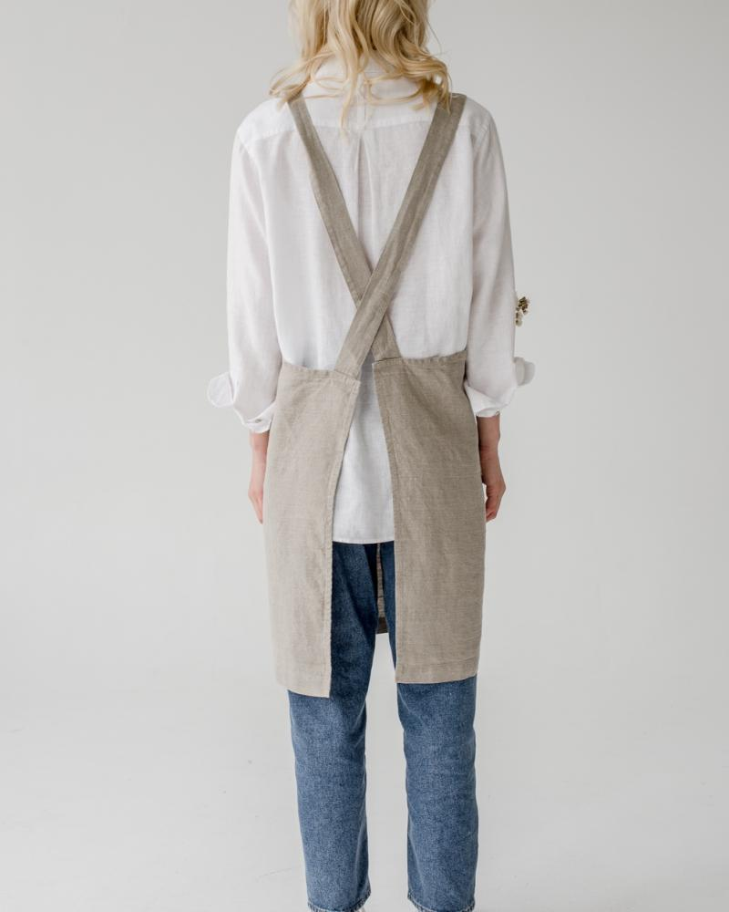 Apron back natural linen