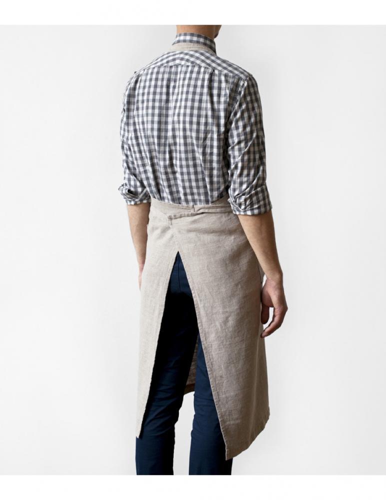 Apron back natural linen Linen Tales