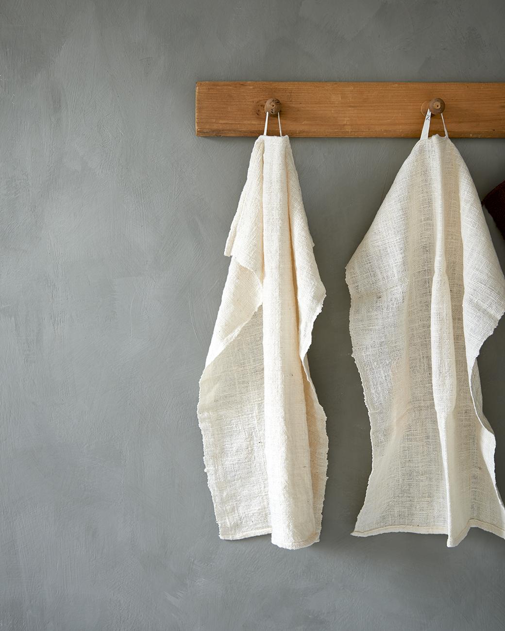 Nature White Kitchen Towel