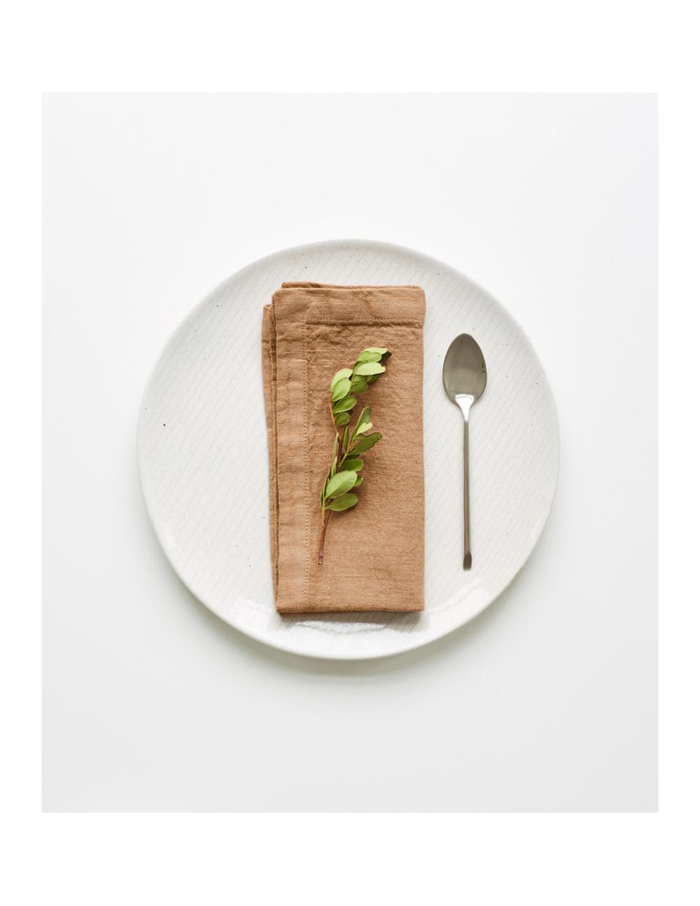 Handmade napkin nude linen Linen Tales