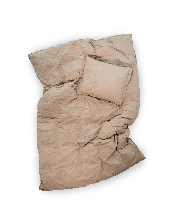 Duvet Cover Set Crinkle Nutmeg