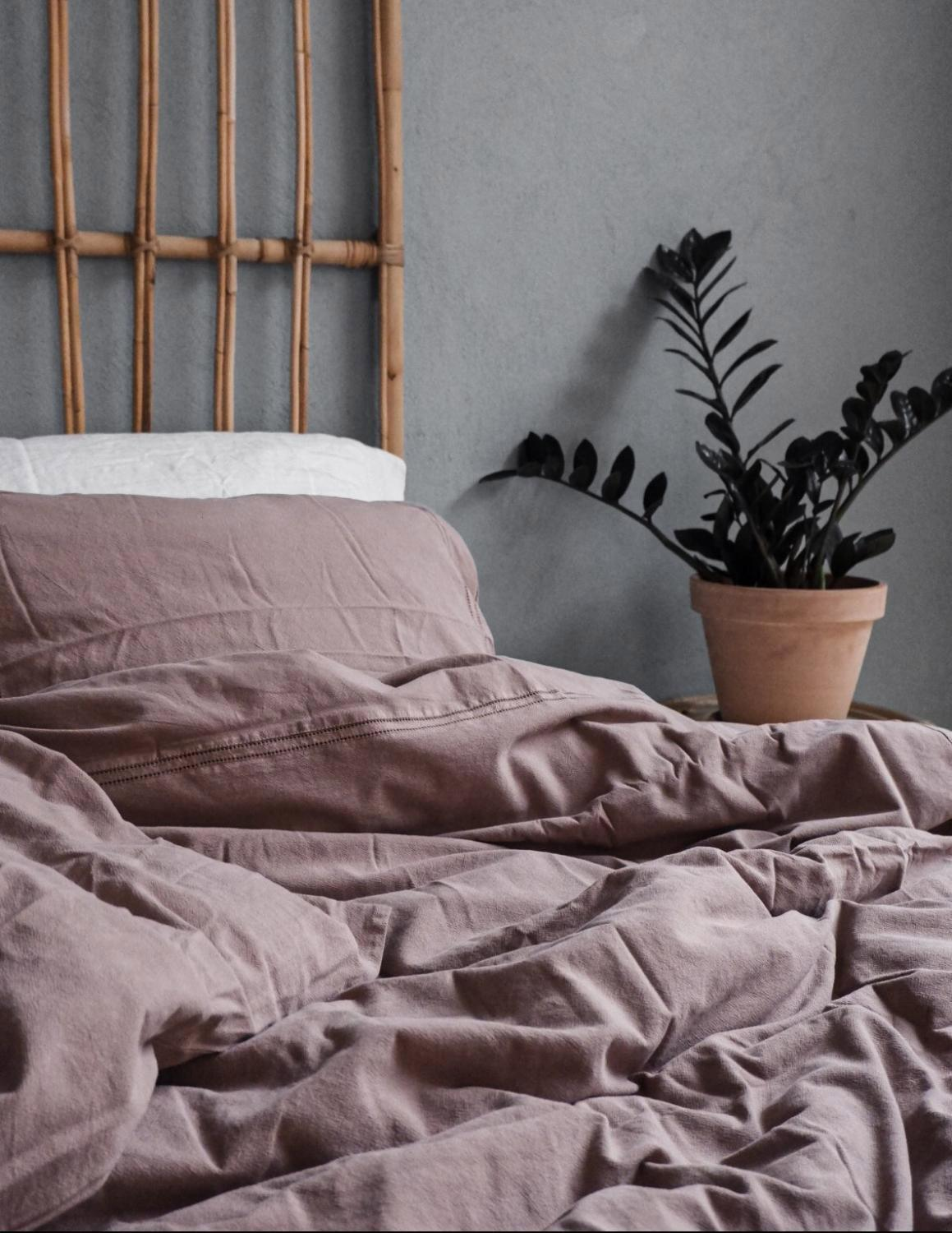 Recycled Duvet Cover Set Rose Taupe