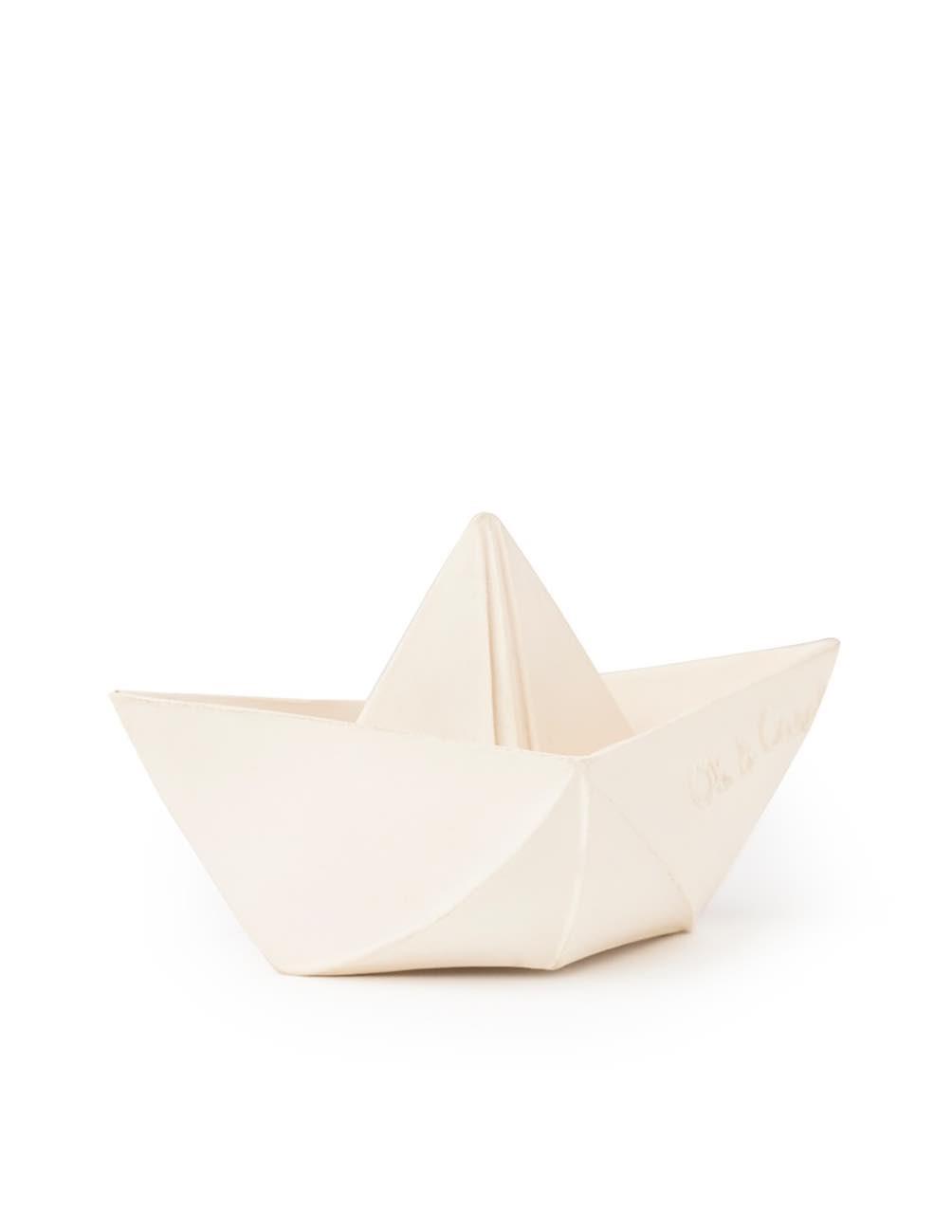 Origami Boat White
