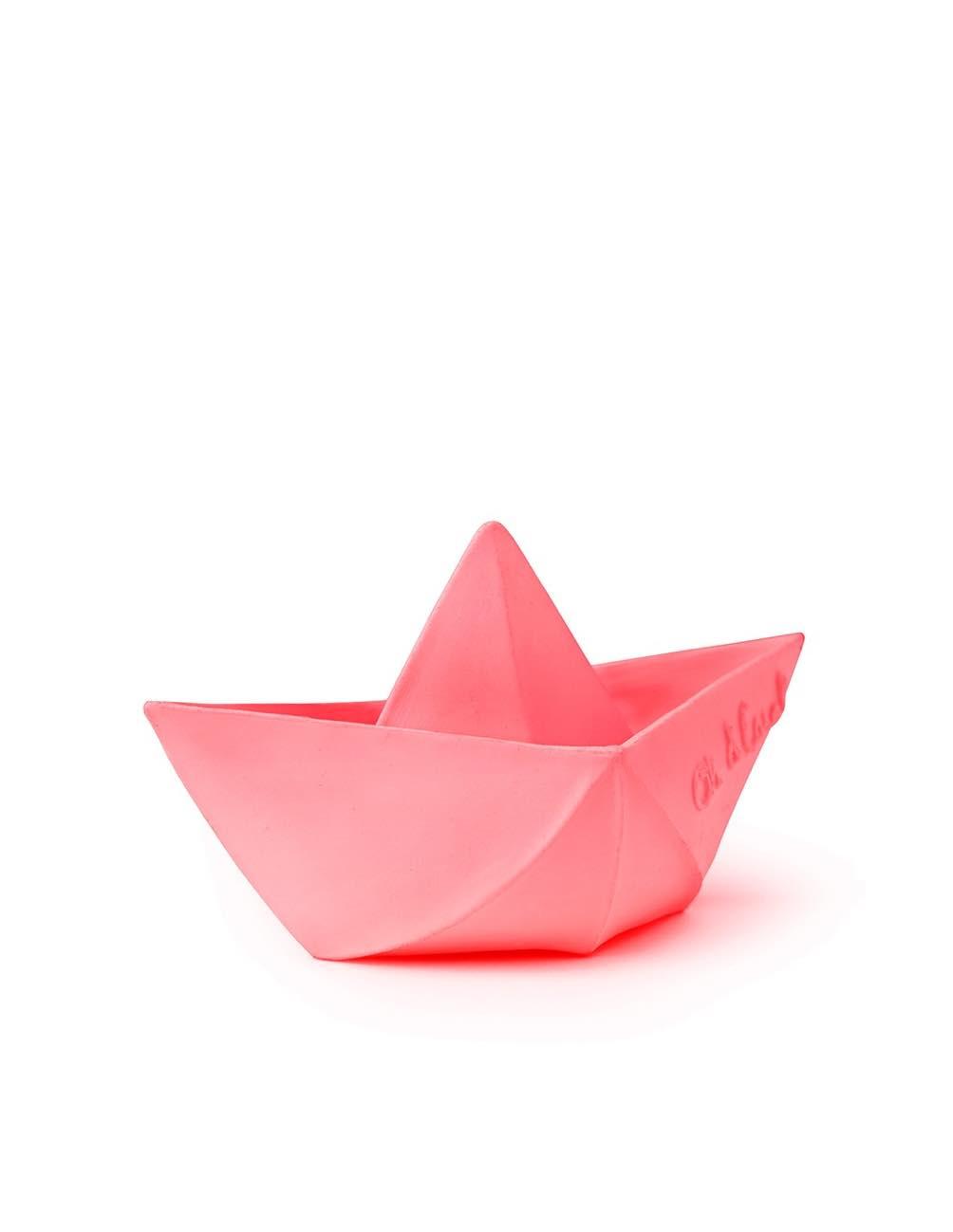 Origami Båt Rosa