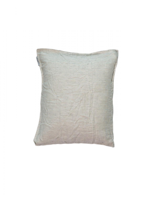 Pillowcase Linen Pinstripe White/Grey (50x60cm)