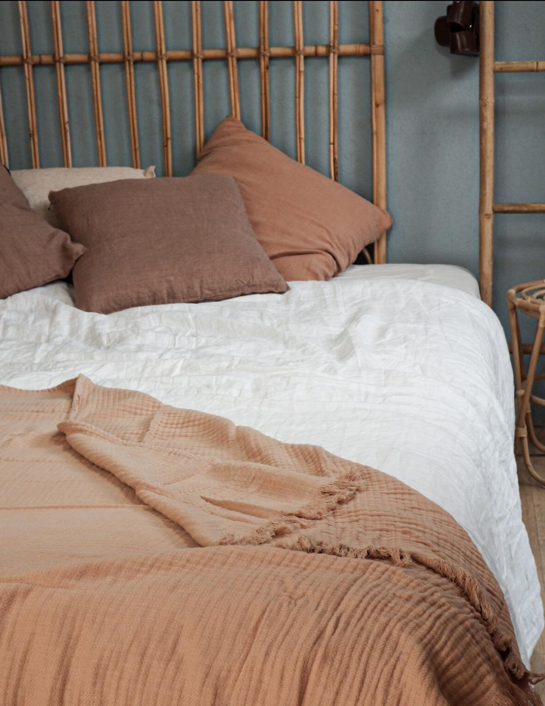 Bedspread Muslin Peach Pink