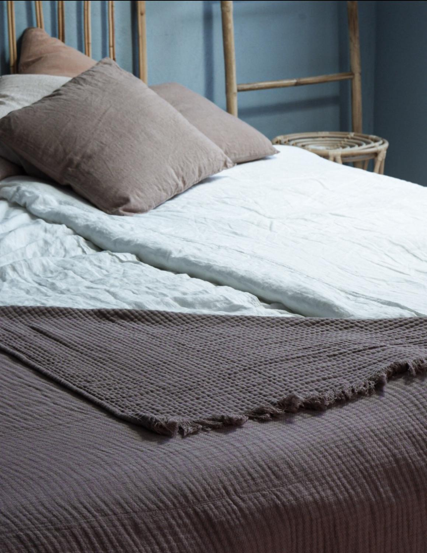 Bedspread Muslin Rose Taupe