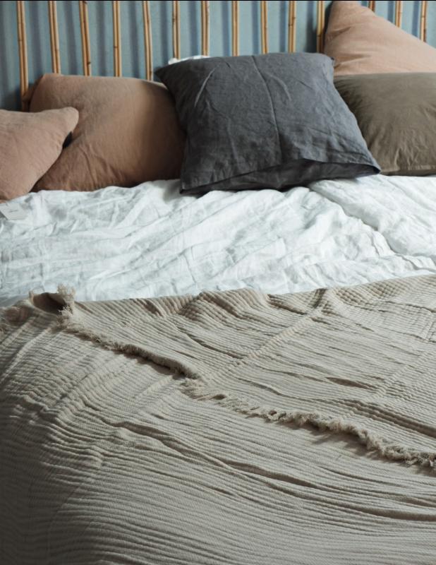 Bedspread Muslin Sand