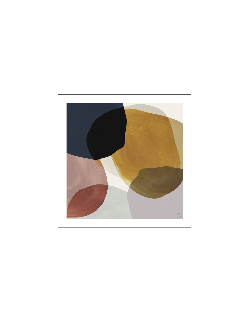 Painted Square Poster 50x50cm