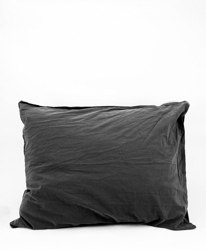 50x60cm Pillowcase Crinkle Dark Grey