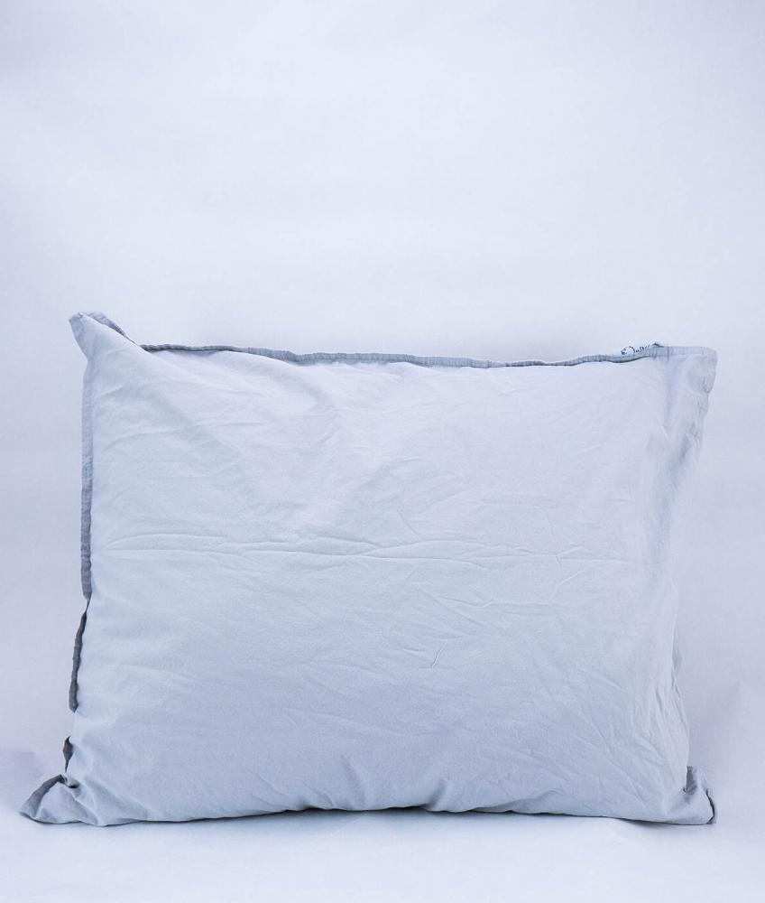 50x60cm Pillowcase Crinkle Light Grey