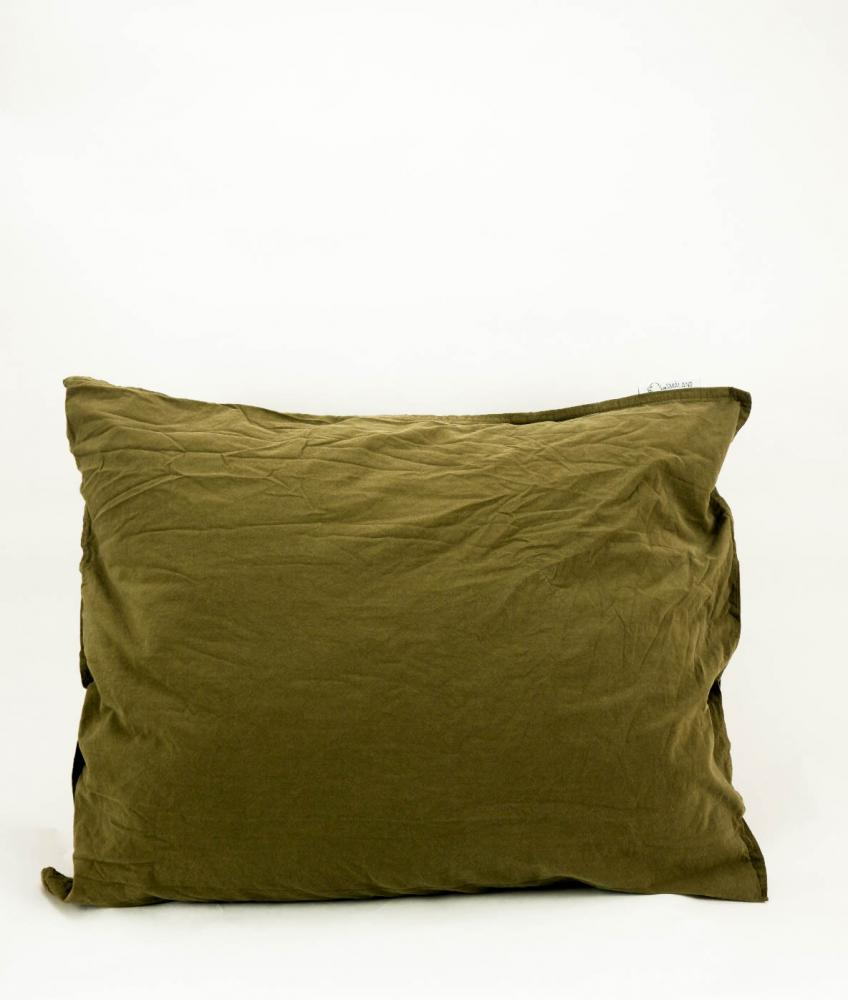 50x60cm Pillowcase Crinkle Moss Green